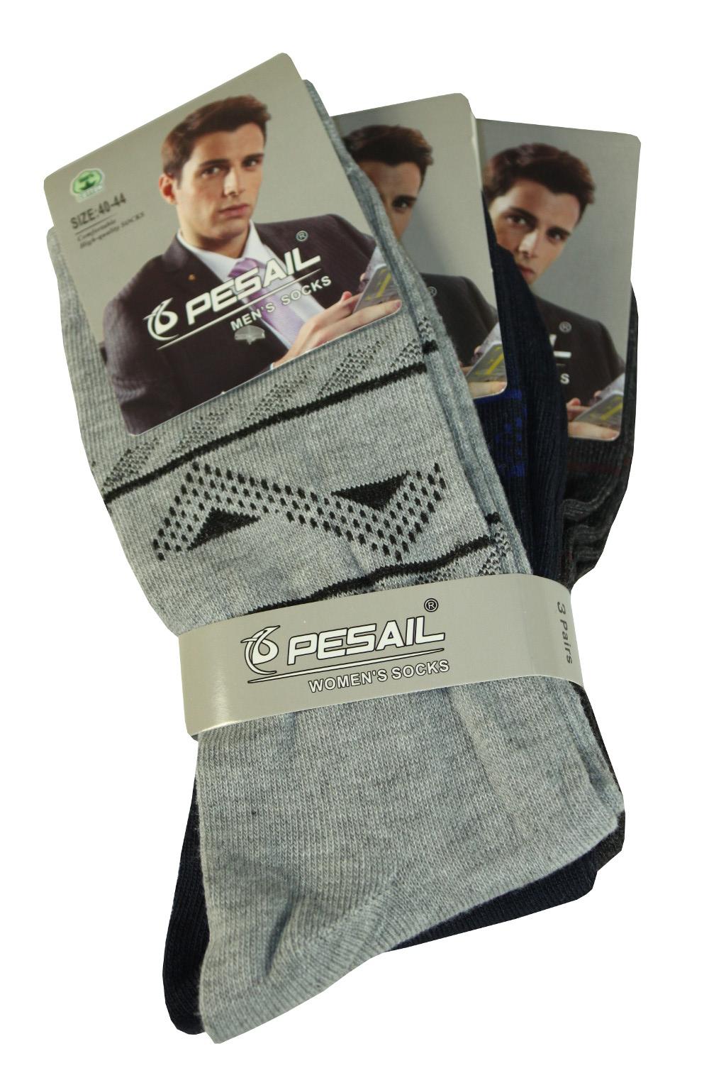 Klasické pánské bavlněné ponožky - 3pack 40-44 MIX