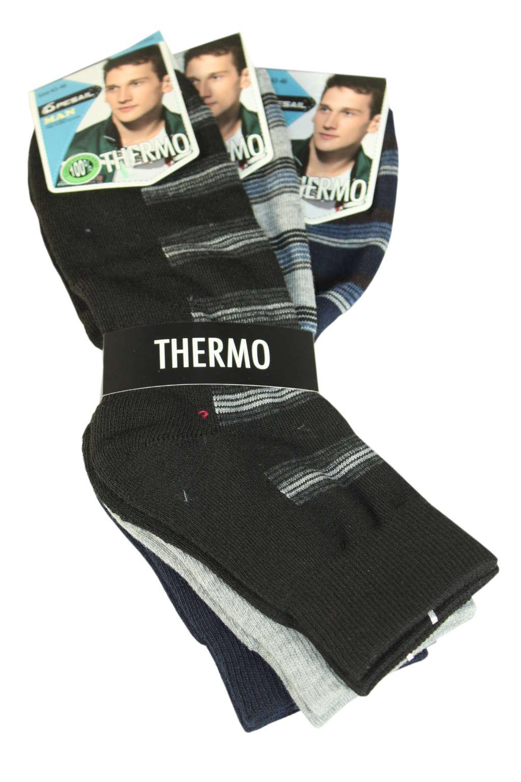 Thermo pánské ponožky - trojbal 43-46 MIX