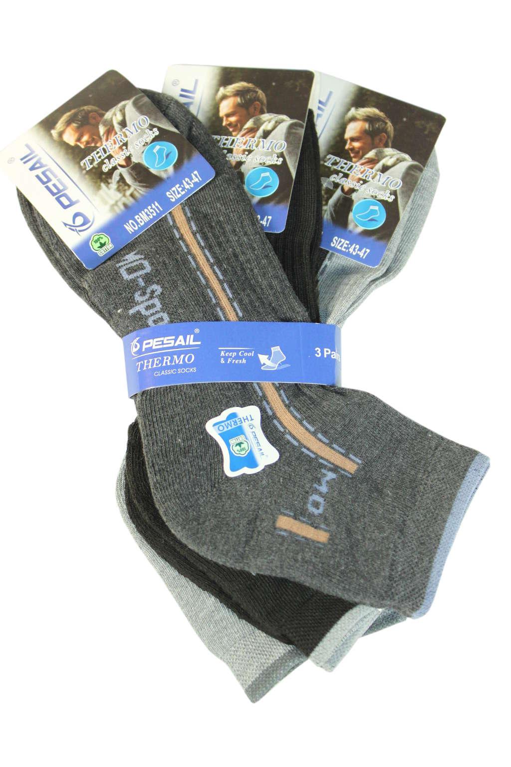 Pánské thermo ponožky - trojbal 40-44 MIX