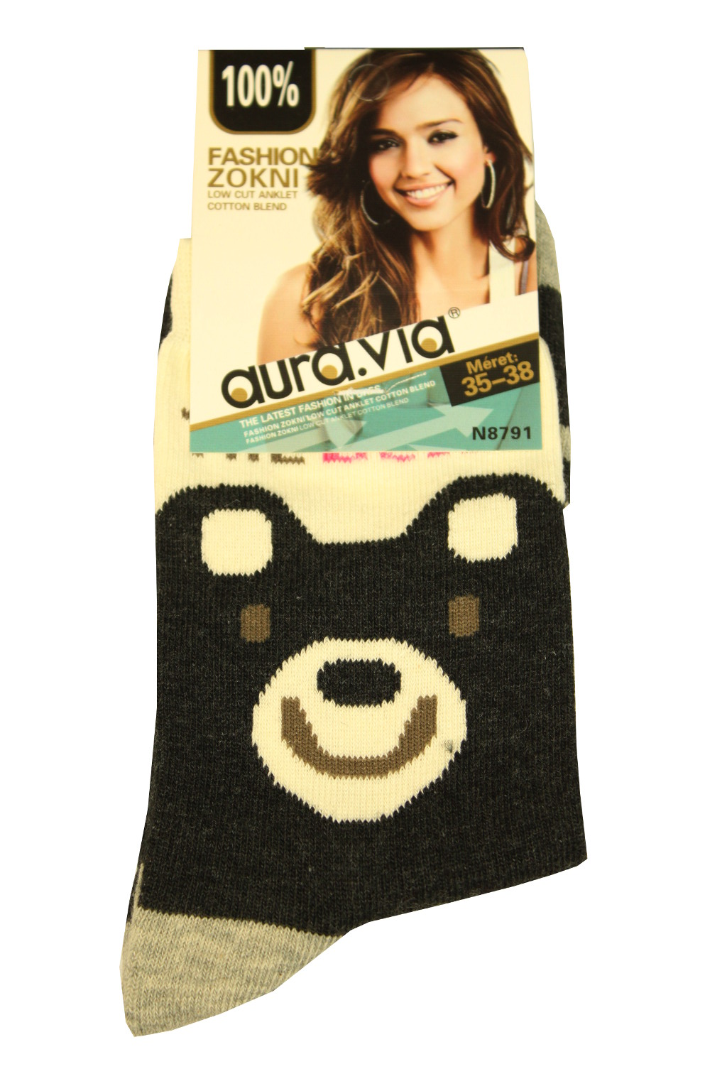 Dámské bavlněné ponožky 35-38 černá