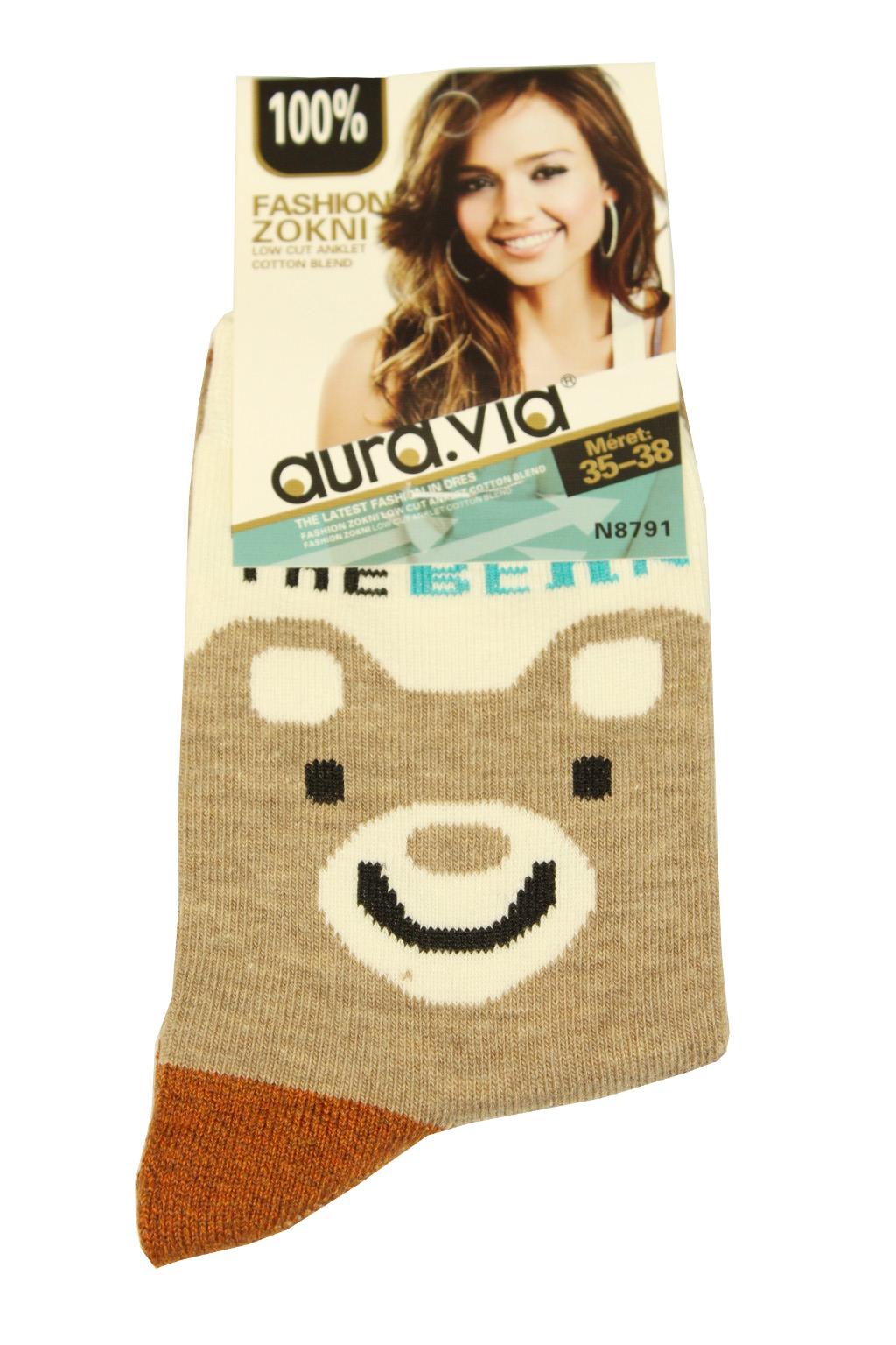 Dámské bavlněné ponožky 39-41 světle hnědá