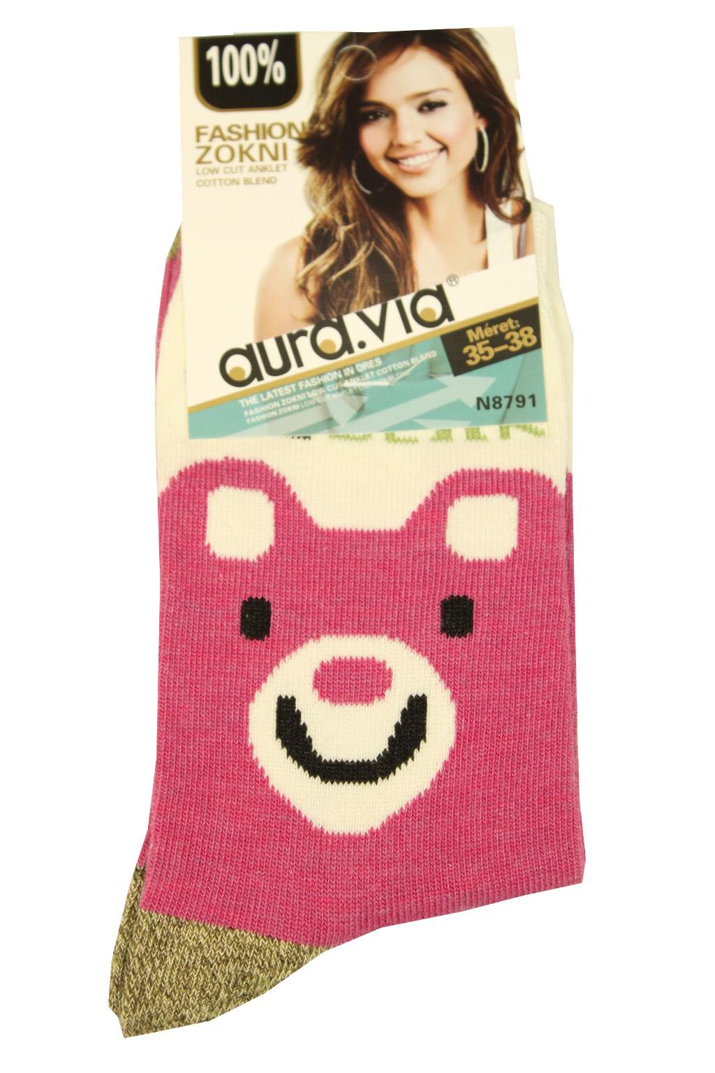 Dámské bavlněné ponožky 39-41 růžová