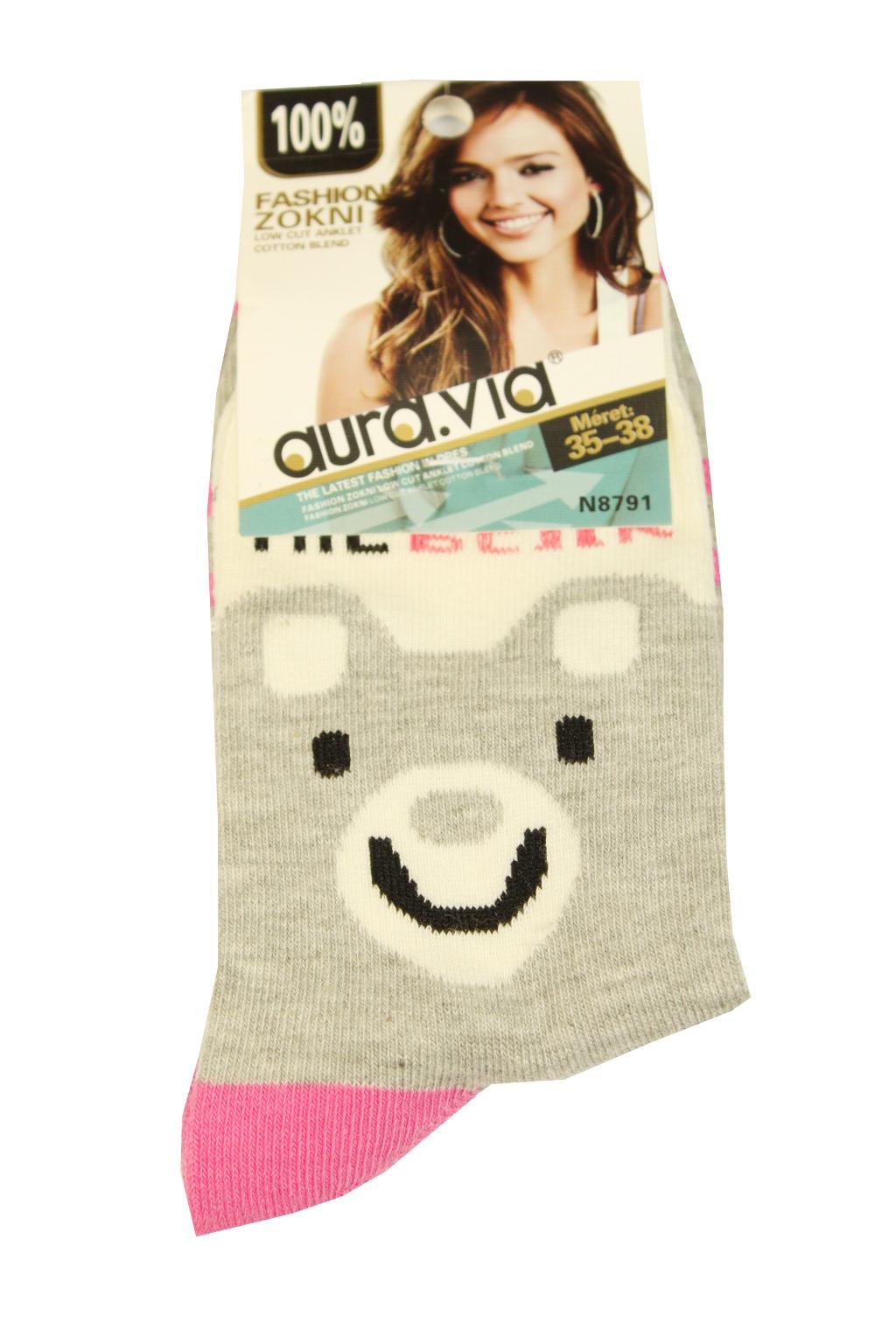 Dámské bavlněné ponožky 35-38 šedá