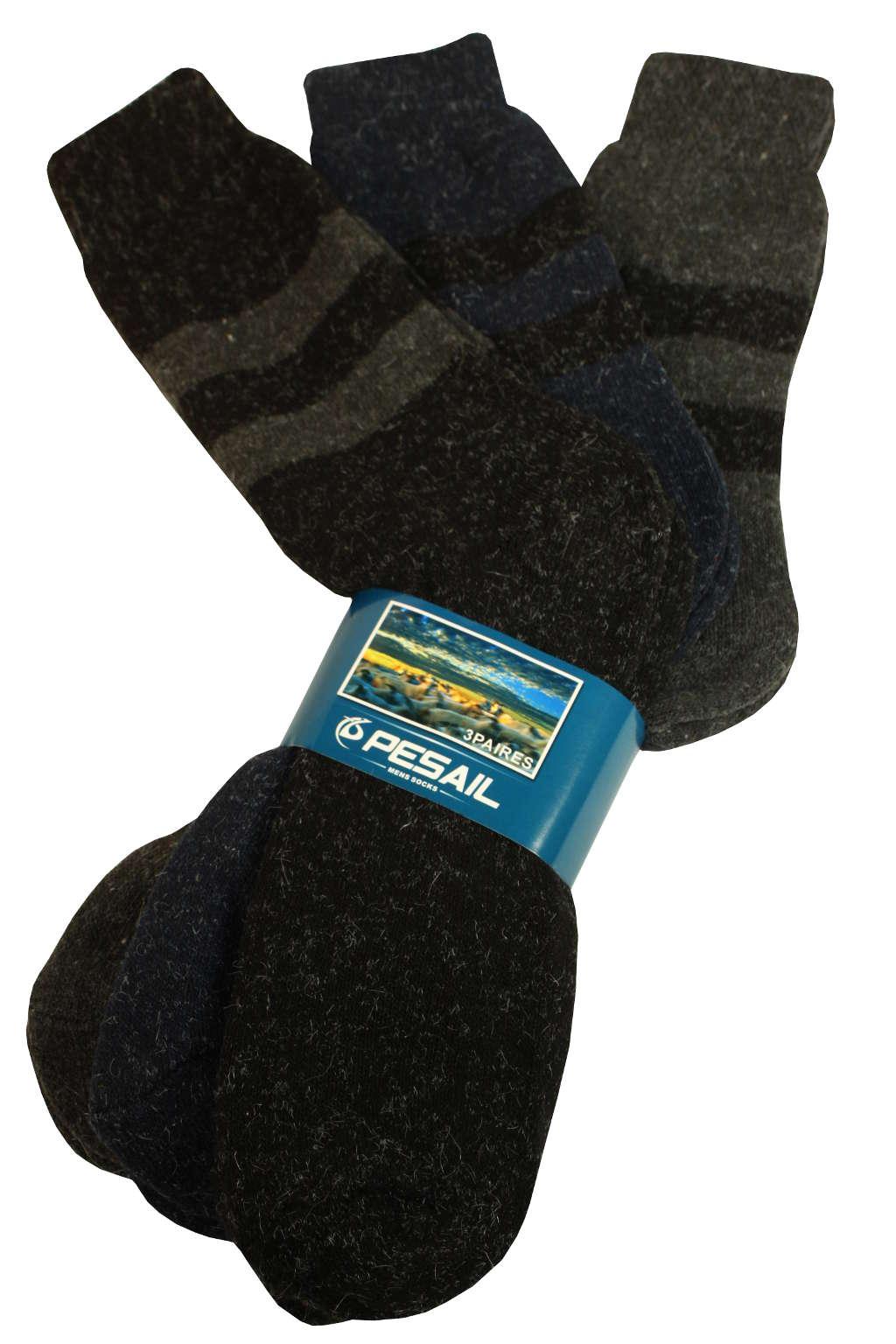 Pánské vysoké ponožky 3 páry 43-46 MIX