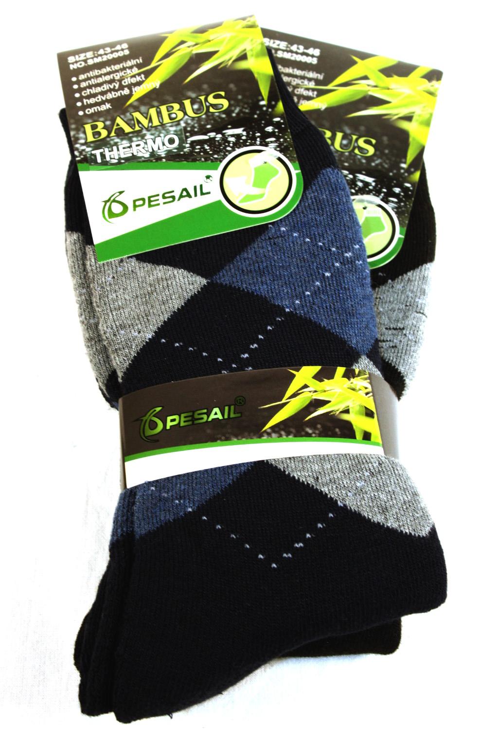 Pánské thermo ponožky 2 páry 40-43 MIX