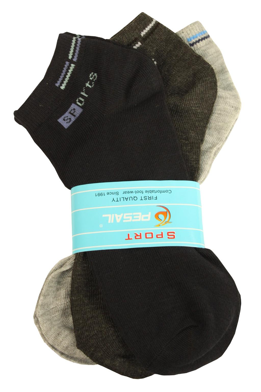 Pánské sportovní ponožky 3 páry 42-46 MIX