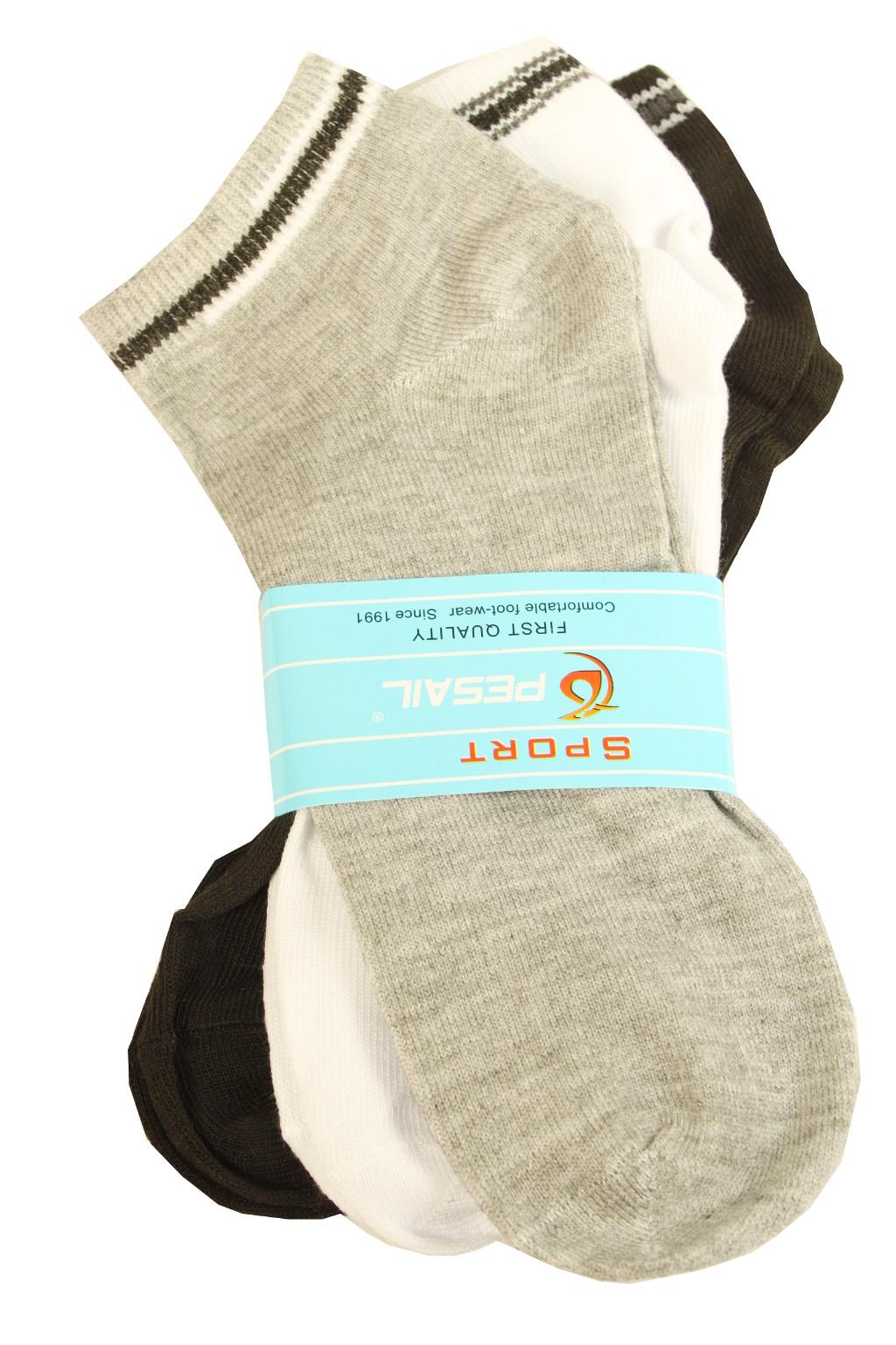 Pánské kotníčkové ponožky 3 páry 42-46 MIX