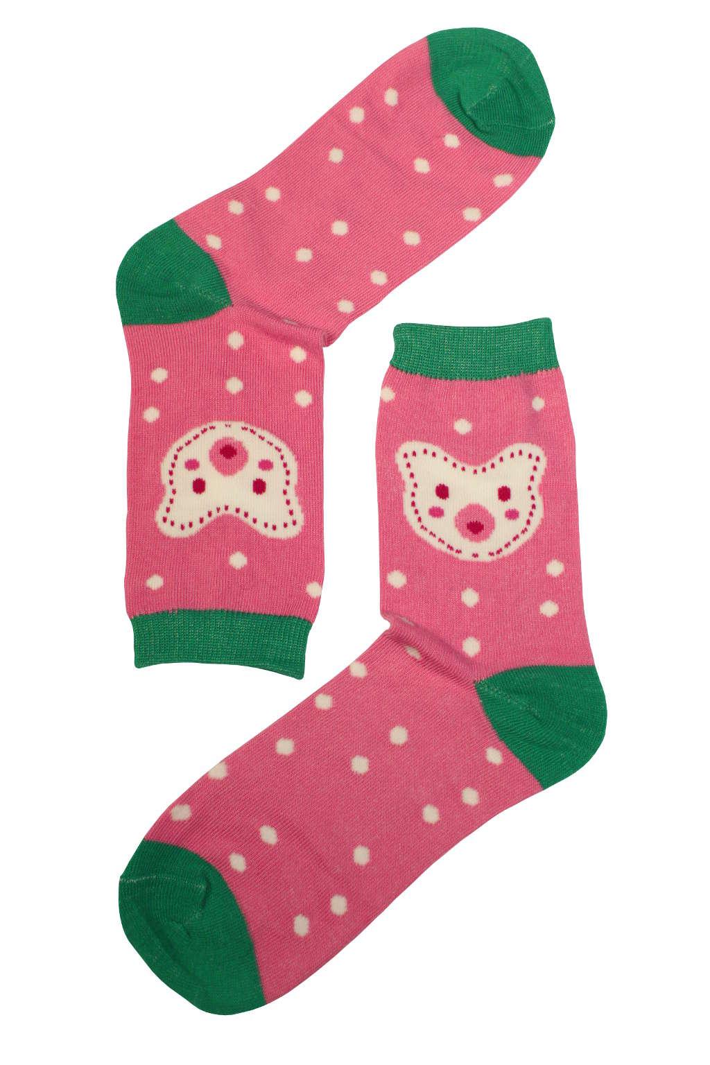 Dámské módní ponožky růžová 35-38