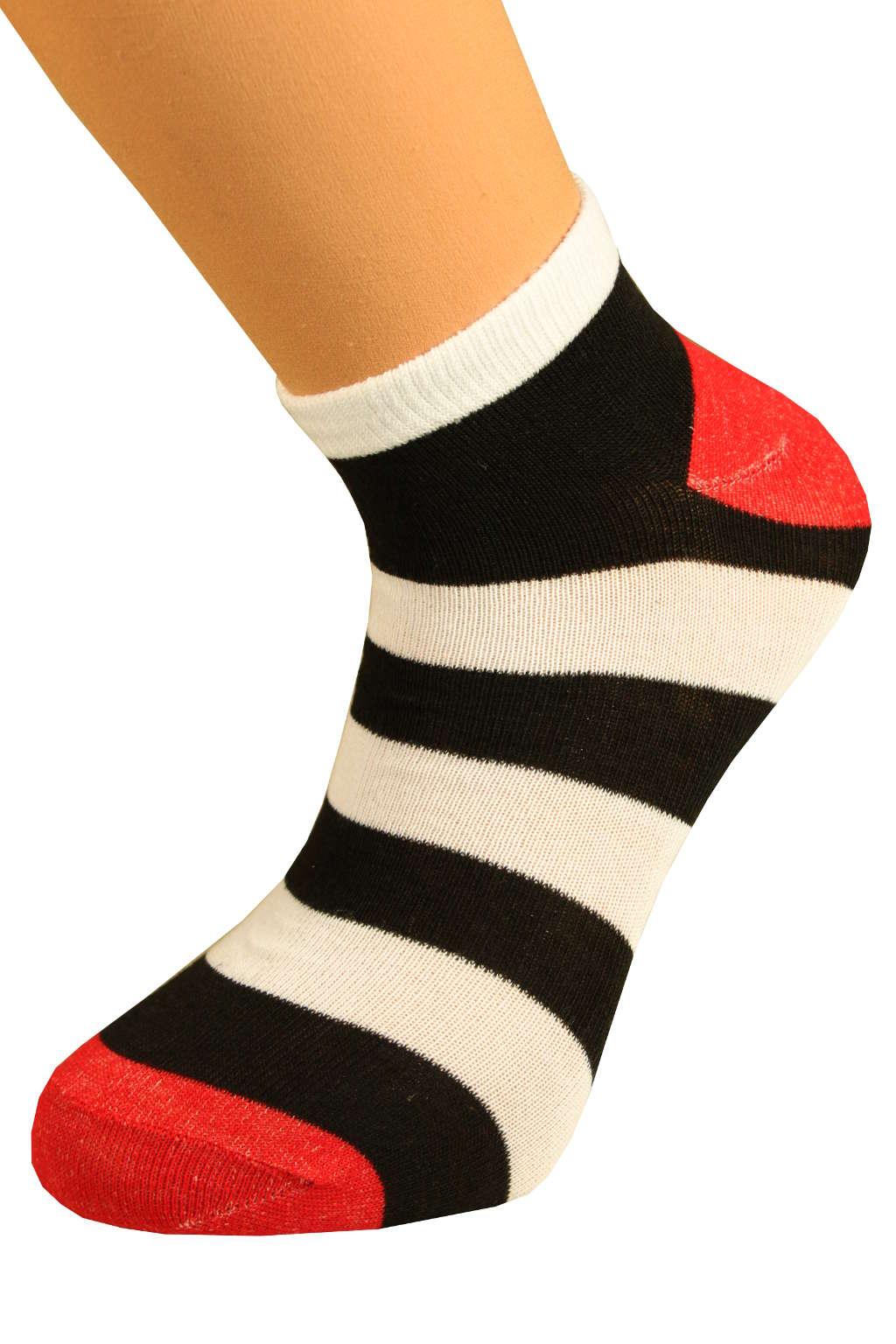 Ponožky pruhy 43-47 černá