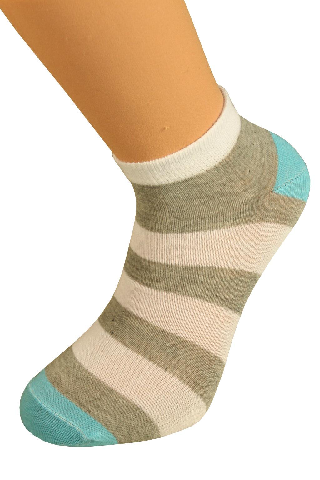 Ponožky pruhy 43-47 šedá