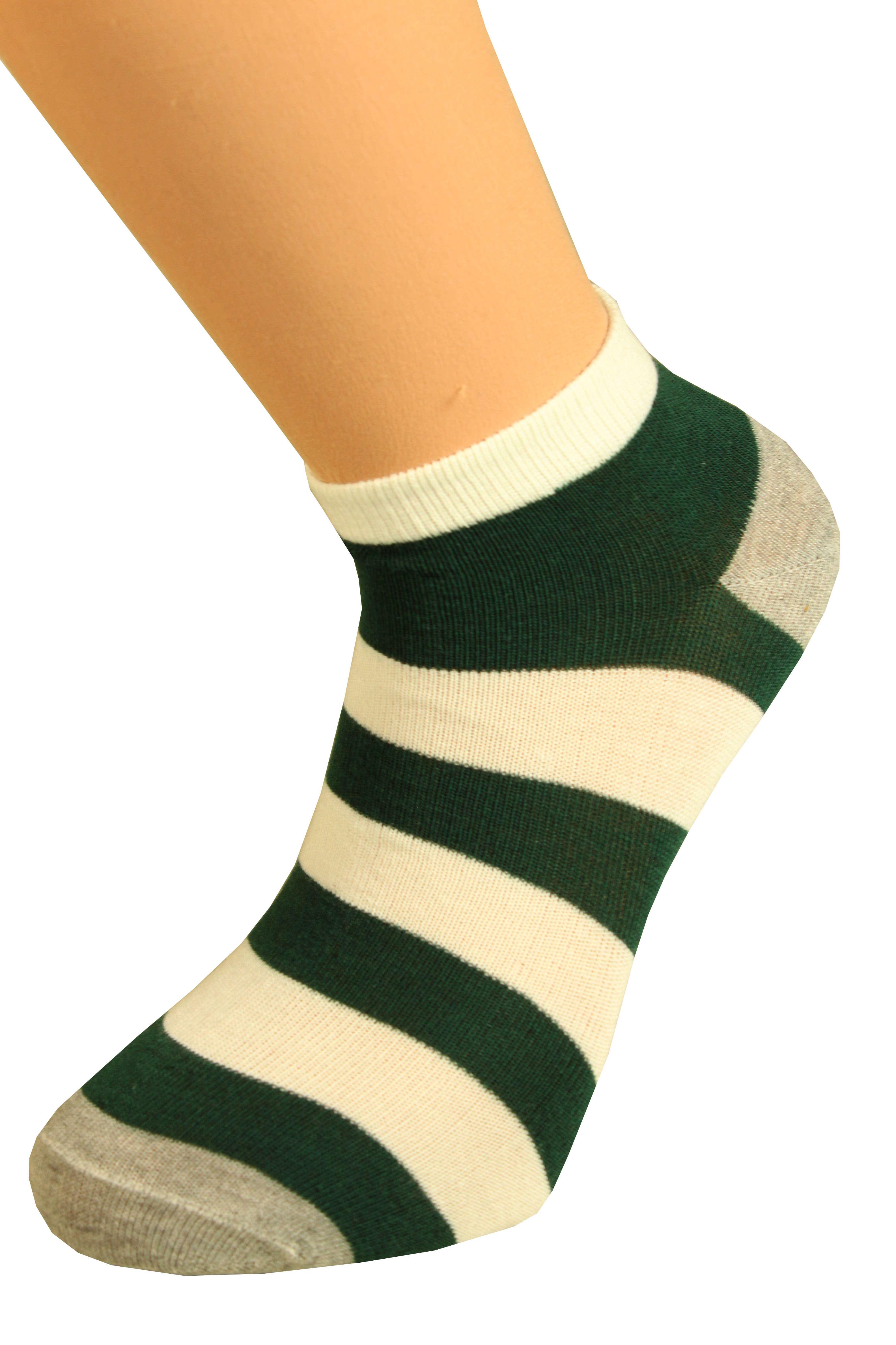 Ponožky pruhy 43-47 tmavě zelená