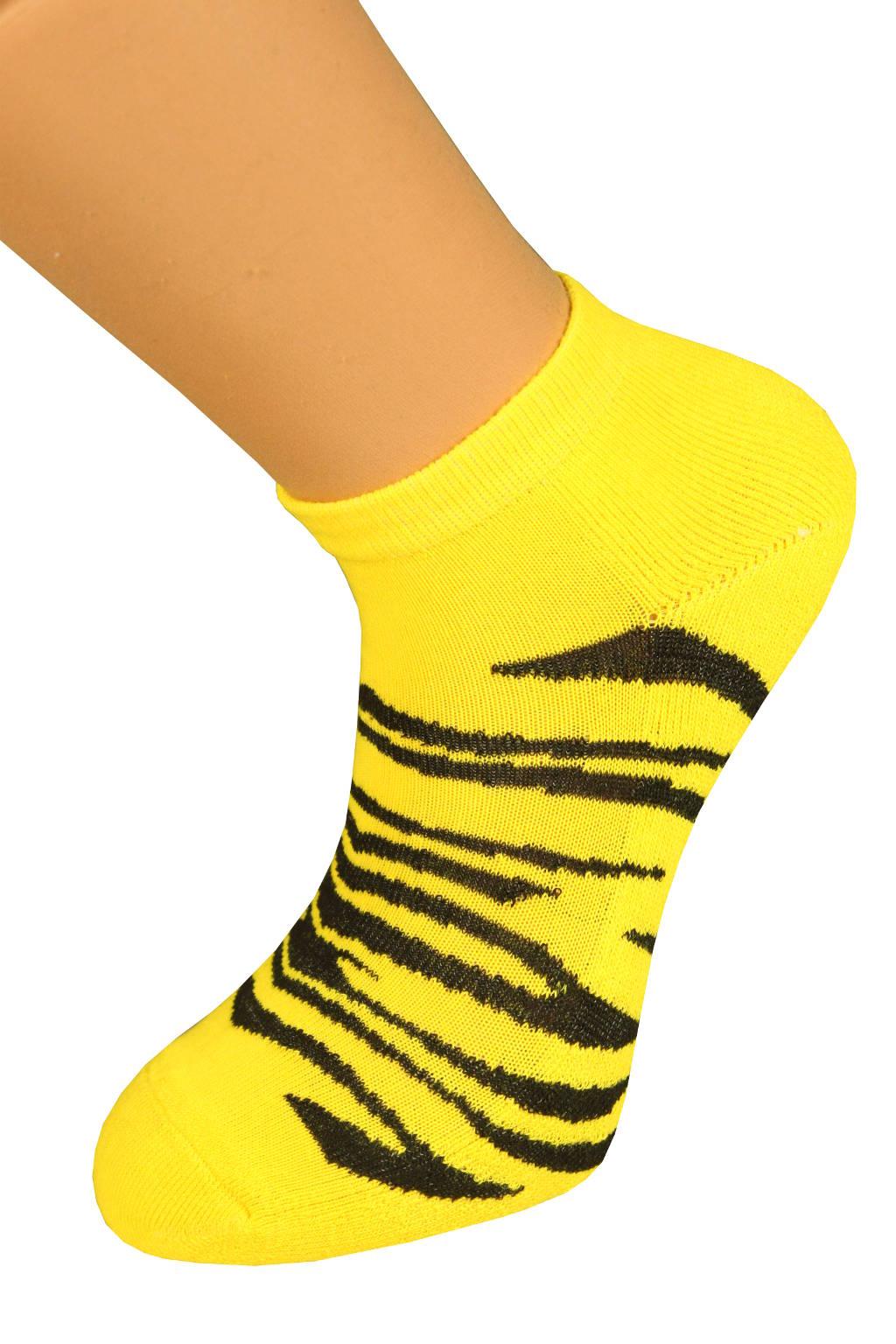 Thermo ponožky Tygr 37-42 zářivě žlutá