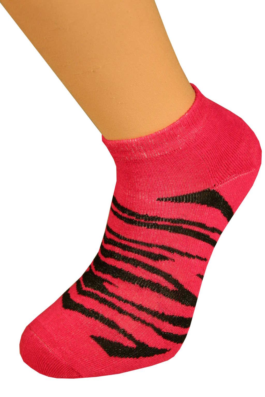 Thermo ponožky Tygr 35-38 tmavě růžová