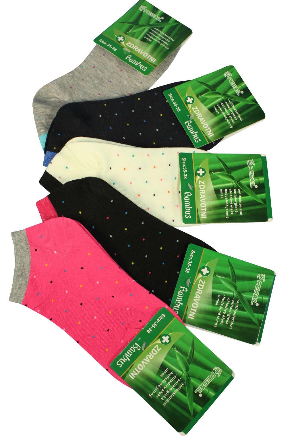 Dámské zdravotní ponožky nízké - 3páry 35-38 MIX