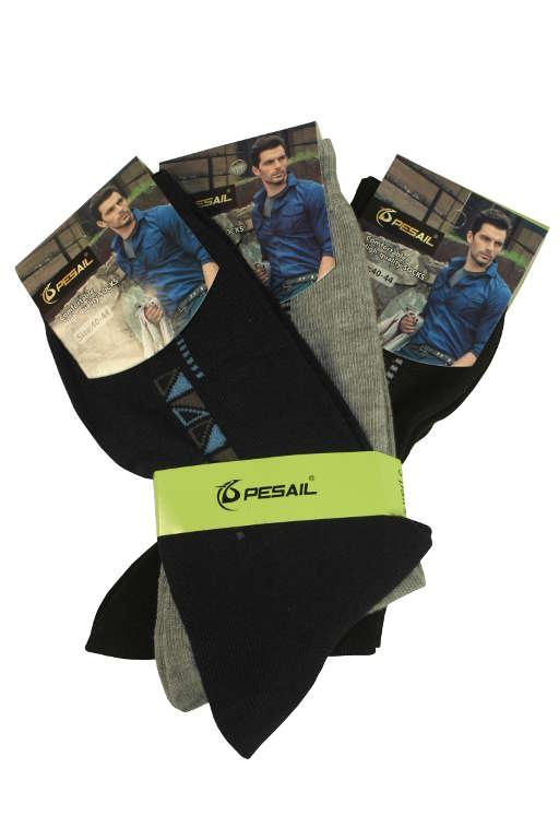 Pánské bavlněné ponožky - 3páry 43-47 MIX