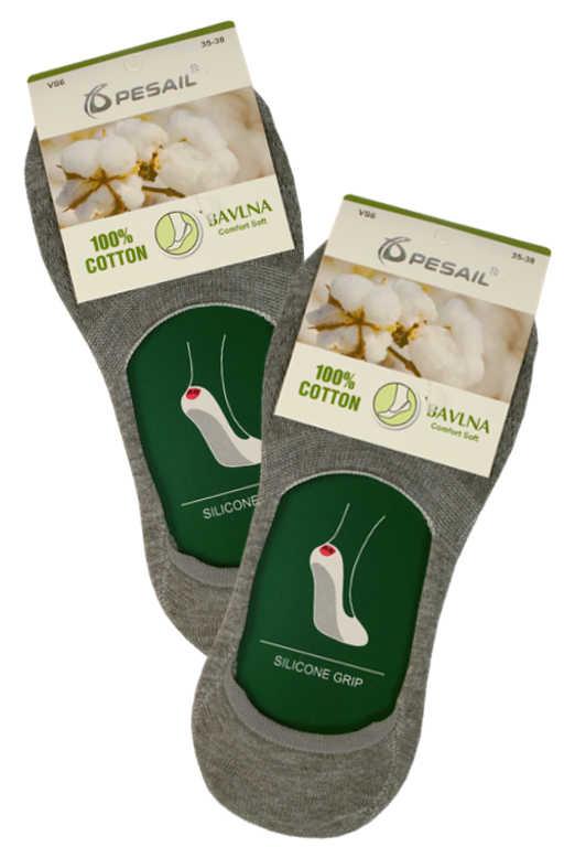 Nízké dámské ponožky do balerín 35-38 šedá