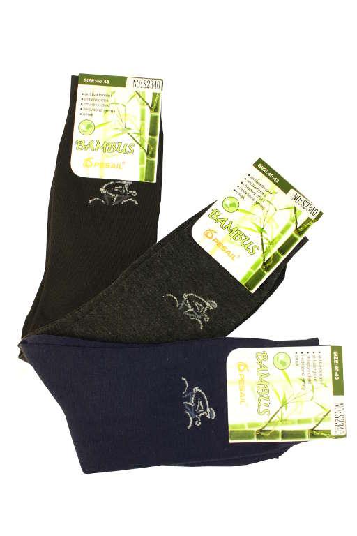 Cyklista - bambusové ponožky 3páry 43-46 MIX