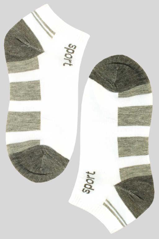 Nízké dámské bambus ponožky 35-38 šedá