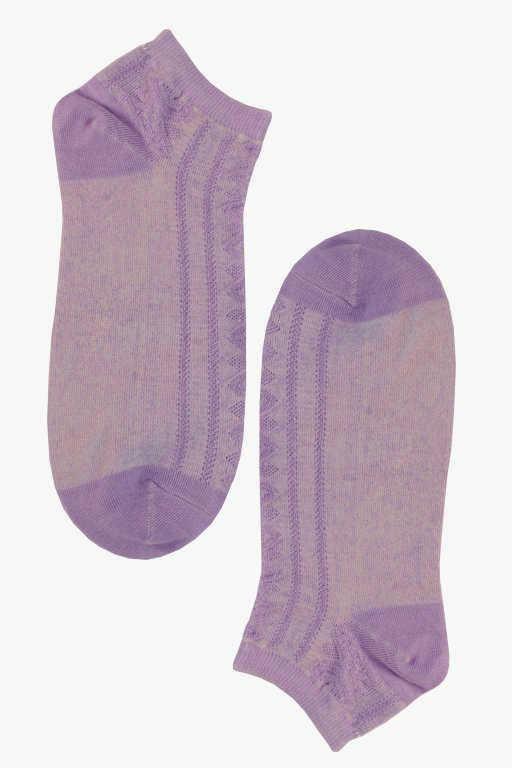 Trendy nízké dámské bambus ponožky 38-42 světle fialová