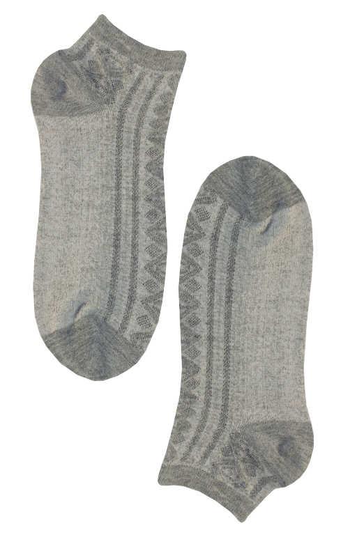 Trendy nízké dámské bambus ponožky 35-38 šedá