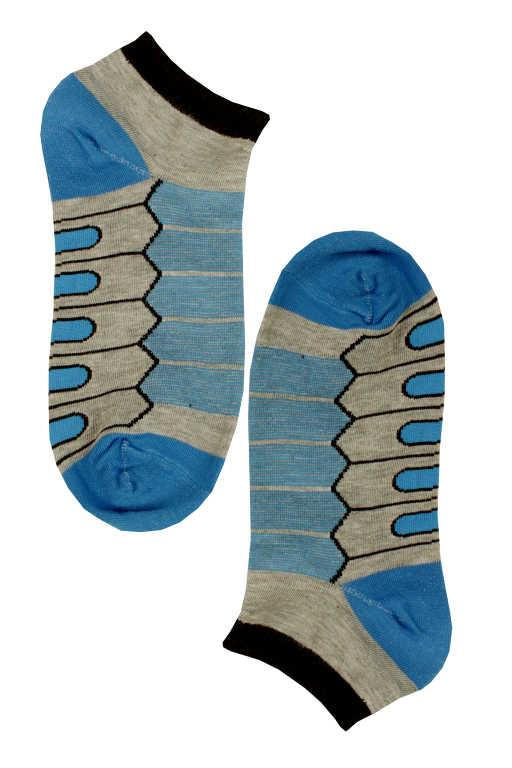 Nižší pánské bambus ponožky 43-47 modrá