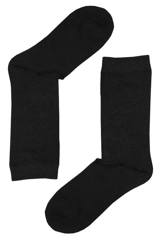 Dámské jednobarevné bambusové ponožky 35-38 černá