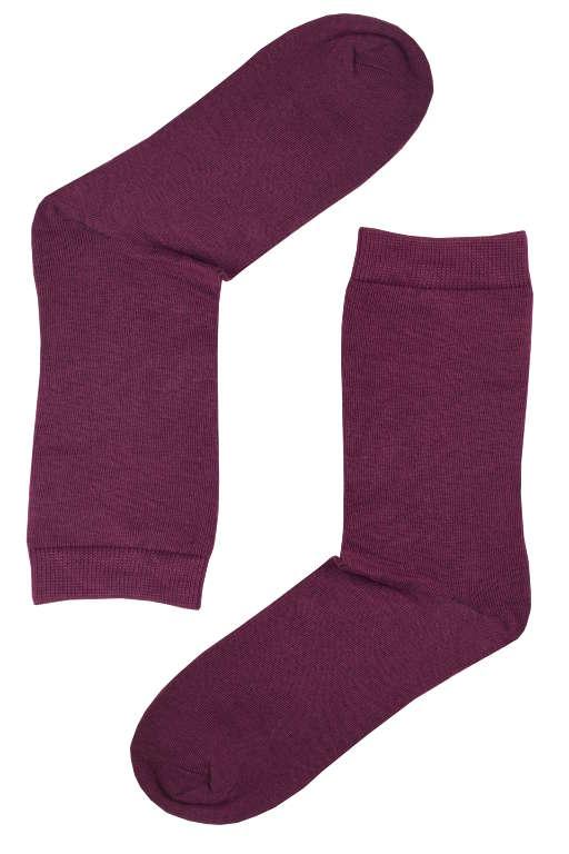 Dámské jednobarevné bambusové ponožky 35-38 vínová