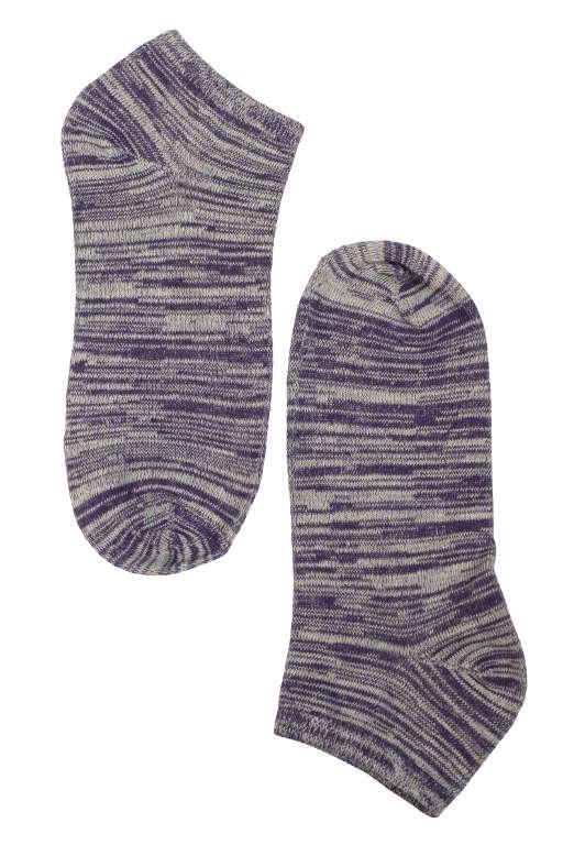 Dámské žíhané bavlněné ponožky 39-42 fialová