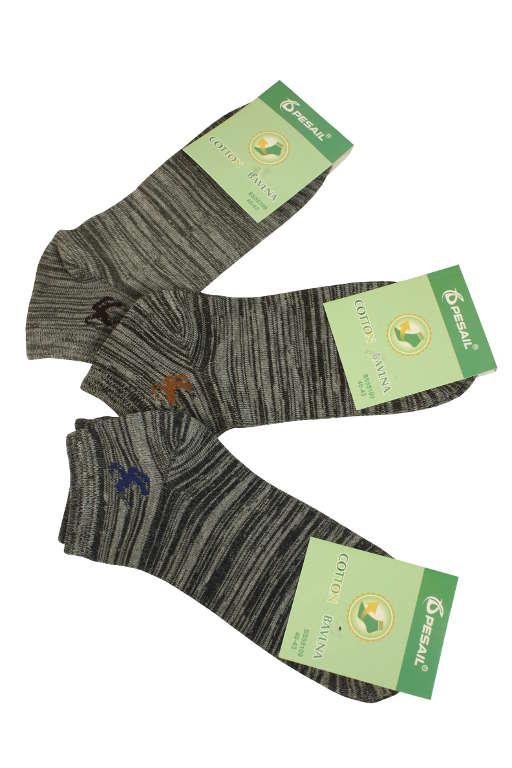 Pánské žíhané bavlněné ponožky - 3páry 44-47 MIX