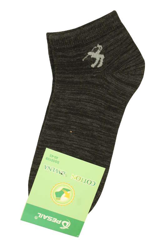 Pánské žíhané bavlněné ponožky 40-43 černá