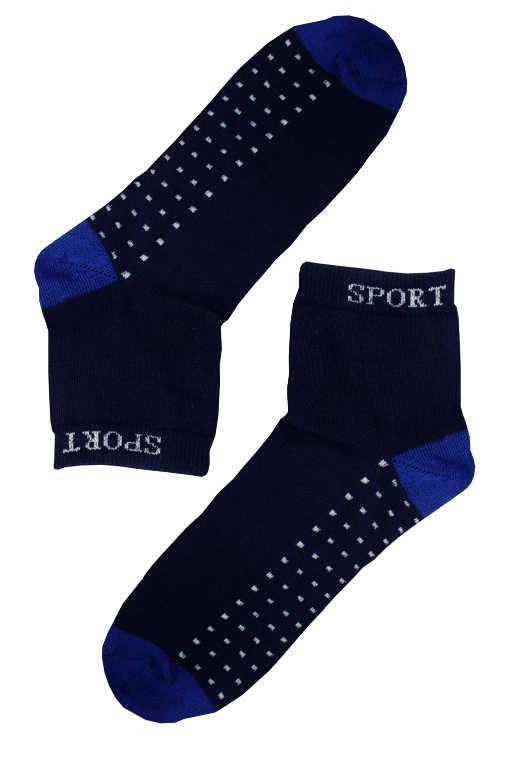 Sport bambus nižší ponožky 43-47 modrá