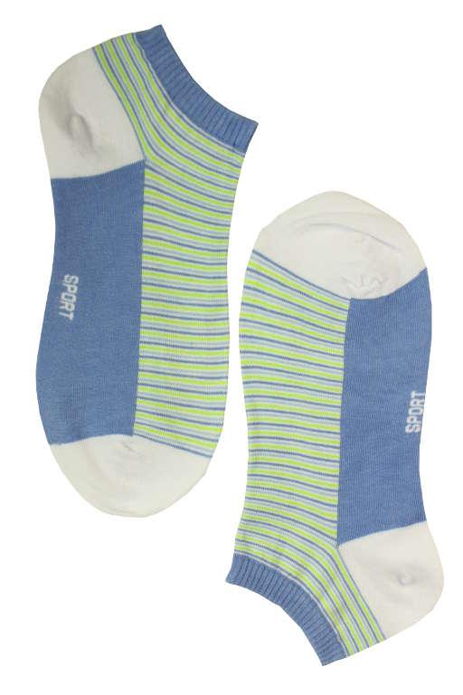 Dámské kotníčkové ponožky bamboo 38-42 světle modrá