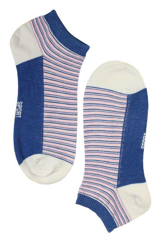 Dámské kotníčkové ponožky bamboo 38-42 tmavě modrá