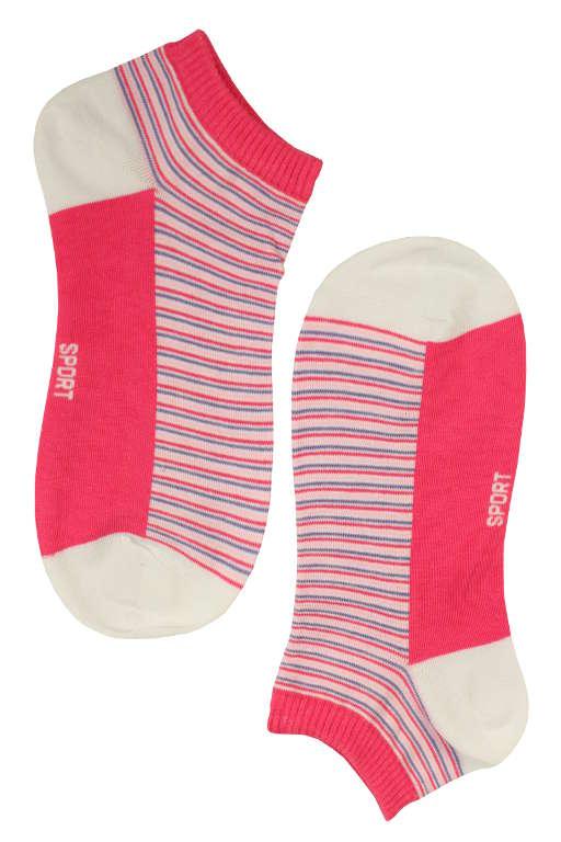 Dámské kotníčkové ponožky bamboo 38-42 růžová