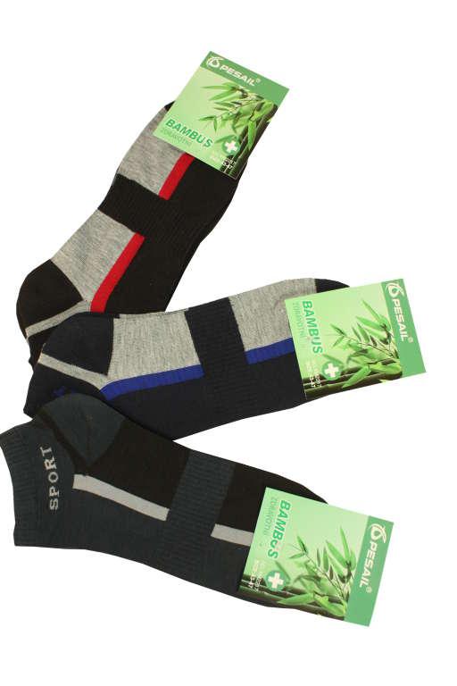 Sportovní pánské kotníčkové ponožky - 3 páry 40-44 MIX