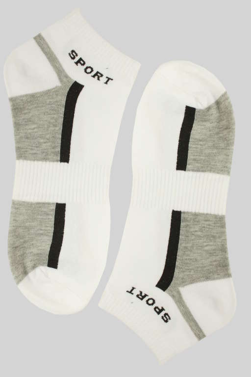Sportovní pánské kotníčkové ponožky 43-47 bílá
