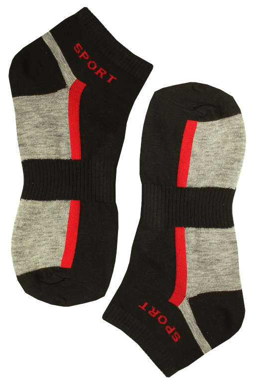 Sportovní pánské kotníčkové ponožky 40-44 černá