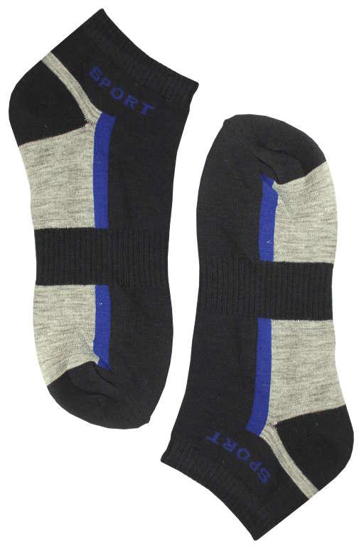 Sportovní pánské kotníčkové ponožky 43-47 modrá