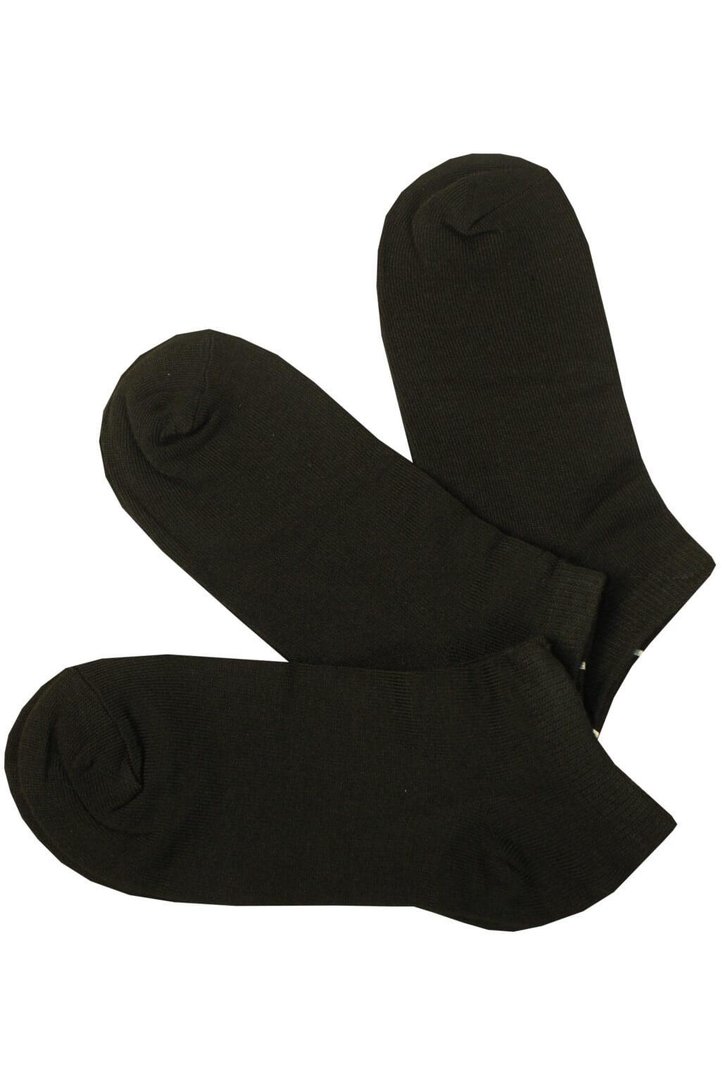 Dámské levné kotníčkové ponožky SY 150C - 3 páry 35-38 černá