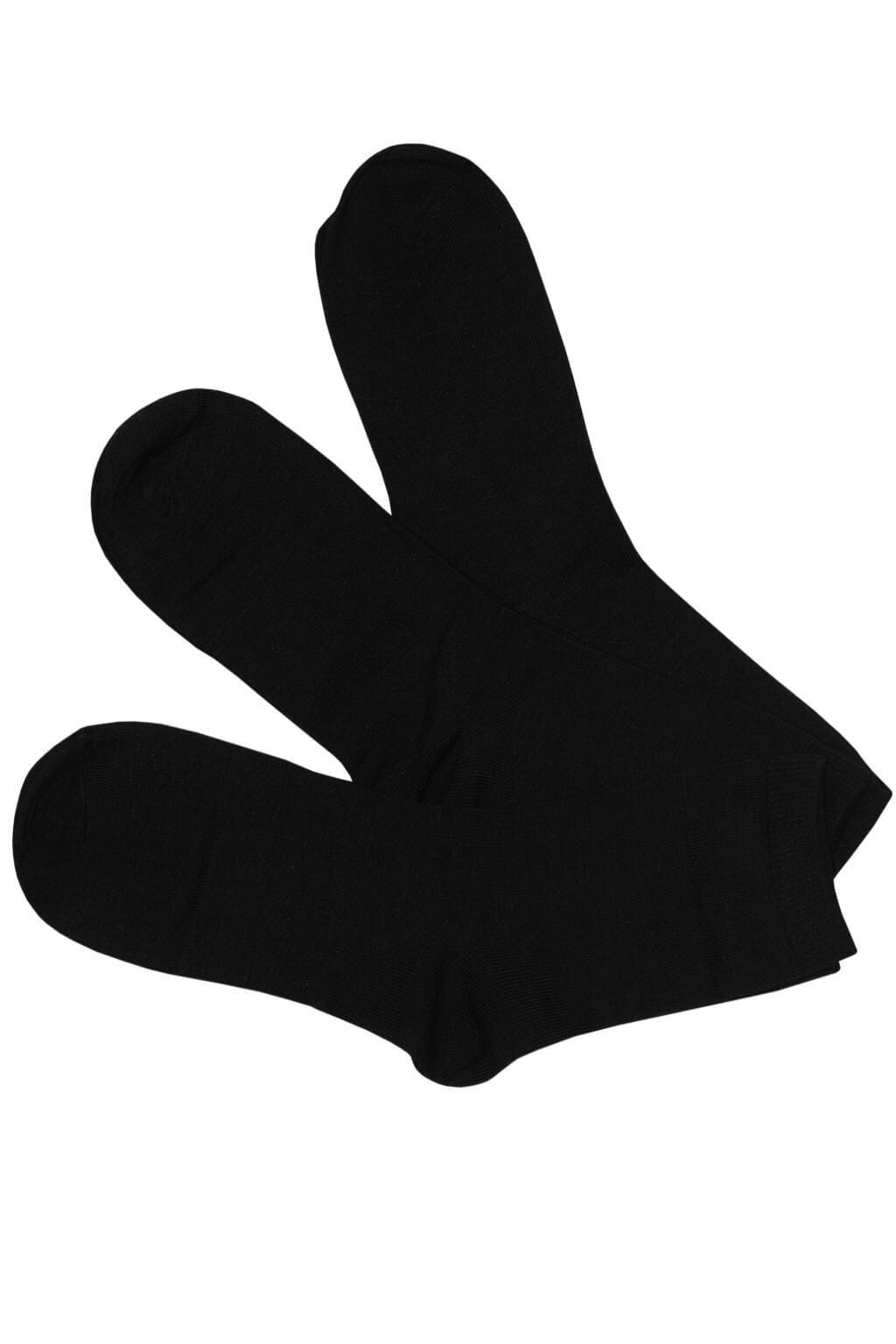 Klasické bavlněné dámské ponožky ZW-6000C-3bal 35-38 černá