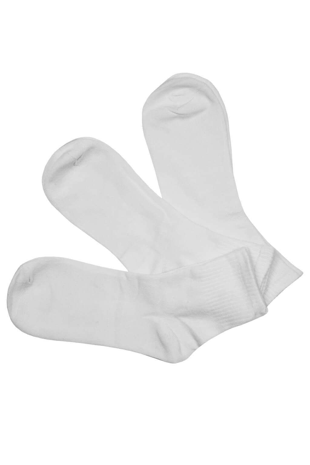 Levné pánské vyšší ponožky bambus ZM-301a - 3Pack 43-47 bílá