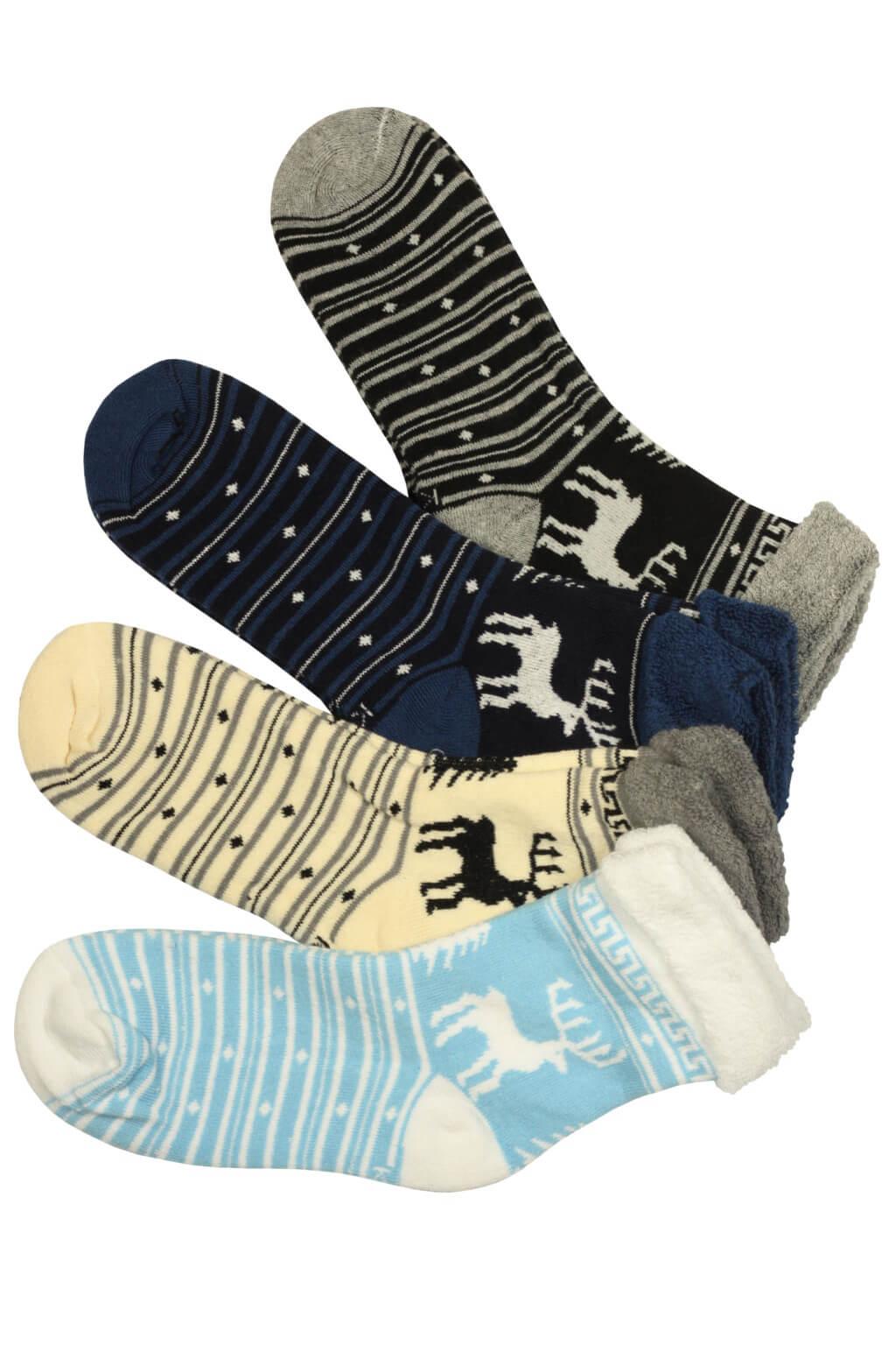 Dámské vánoční ponožky thermo - 3 bal 35-38 MIX