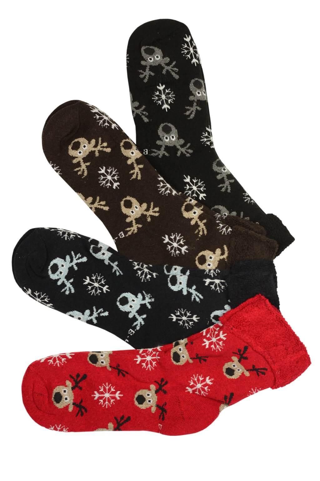 Dámské ponožky s vánočním motivem - 3 bal 39-42 MIX