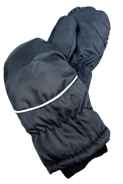 Palčákové rukavice dětské 3-4 roky černá