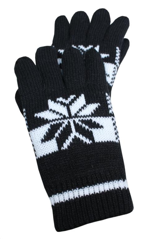 Norway rukavice L černá