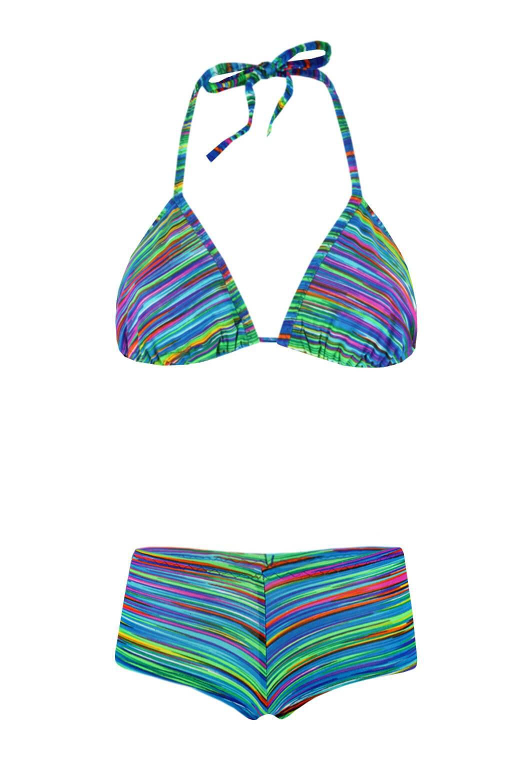 Aqua D neonové plavky XS modrá