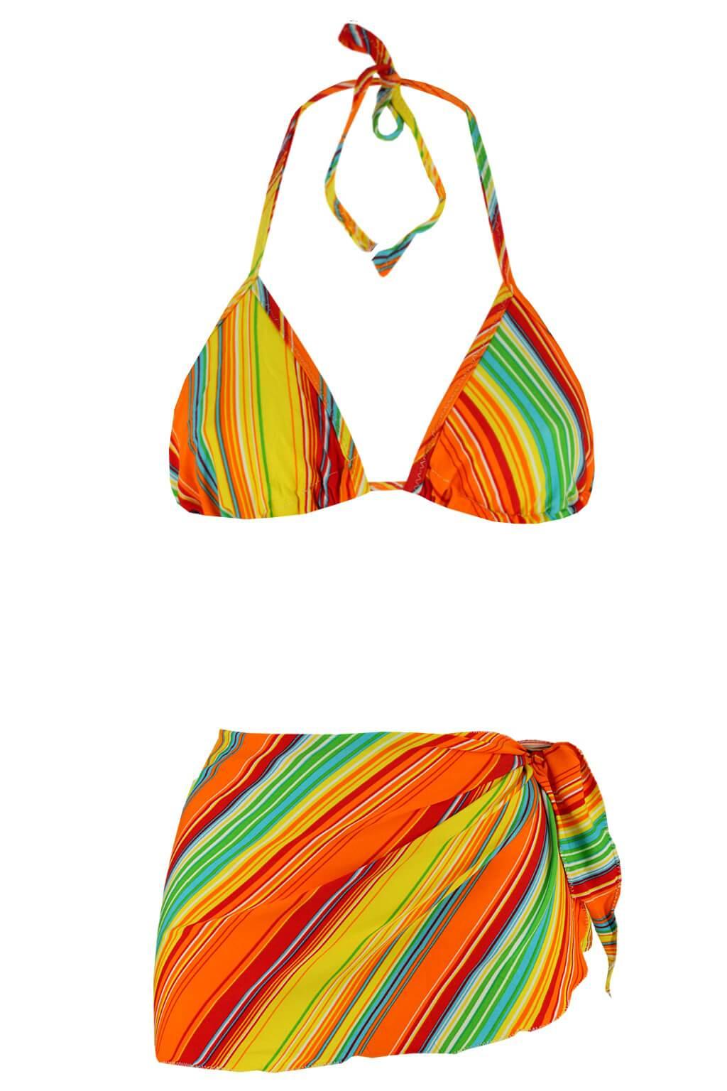 Aqua H plavky se sukénkou M oranžová