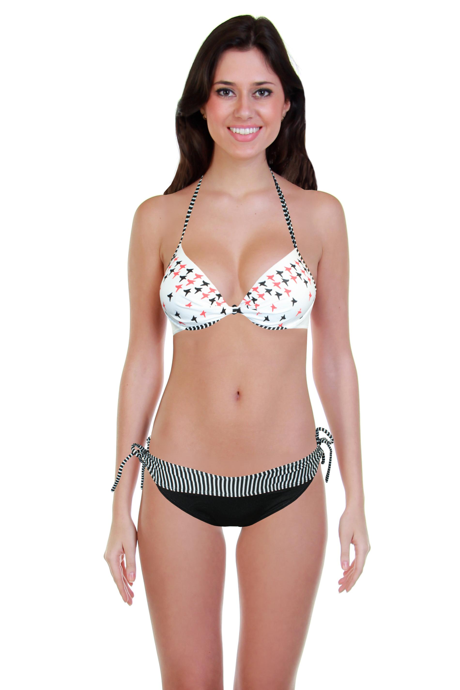 New Star plavky dvoudílné - výprodej S bílá