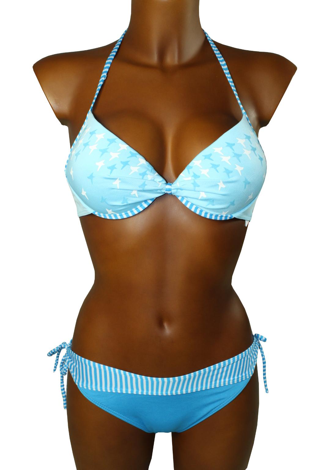 New Star plavky dvoudílné - výprodej M modrá