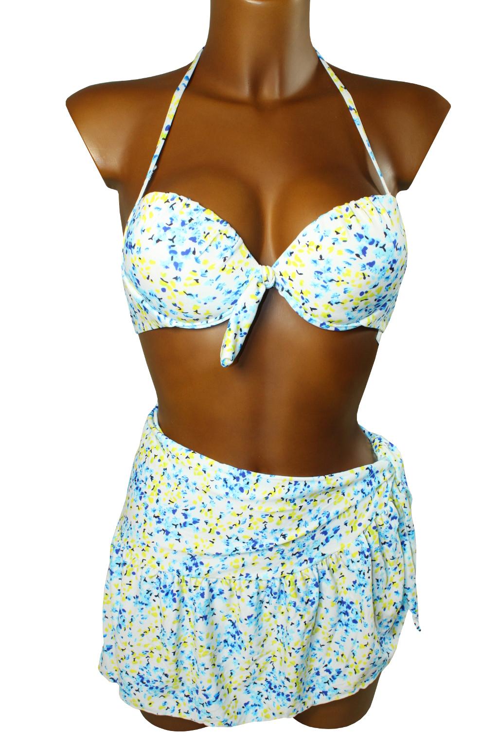Spring plavky se sukénkou - výprodej M modrá